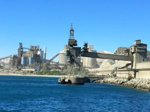 Carboneras Spain-LafargeHolcim plant and its port facilities for cement loading